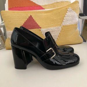 Prada Black Patent Chunky Loafer